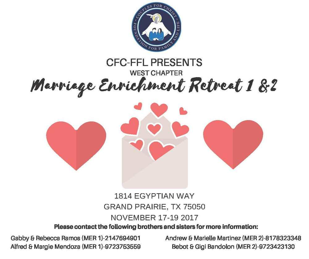 Cfc marriage enrichment retreat 2 cfc